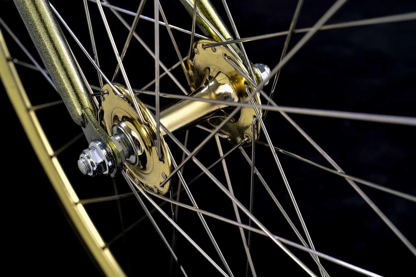 STAR WARS x tokyobike Feel the Force BB-8 - gold front hub