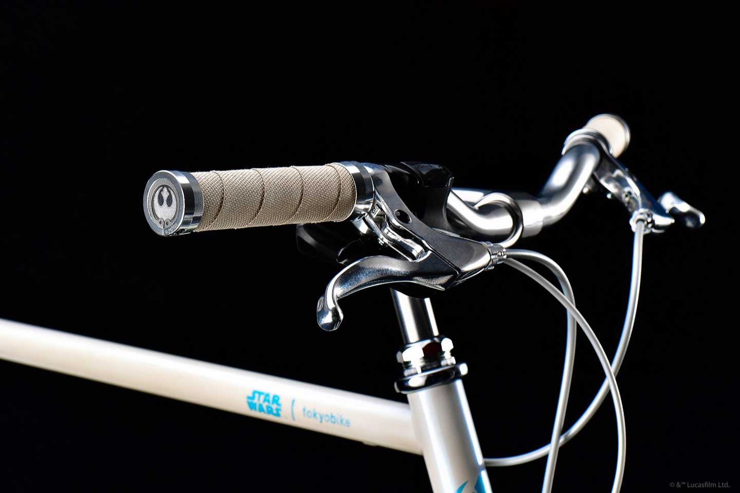 STAR WARS x tokyobike Rey - handlebar with customization Resistant logo on grips end