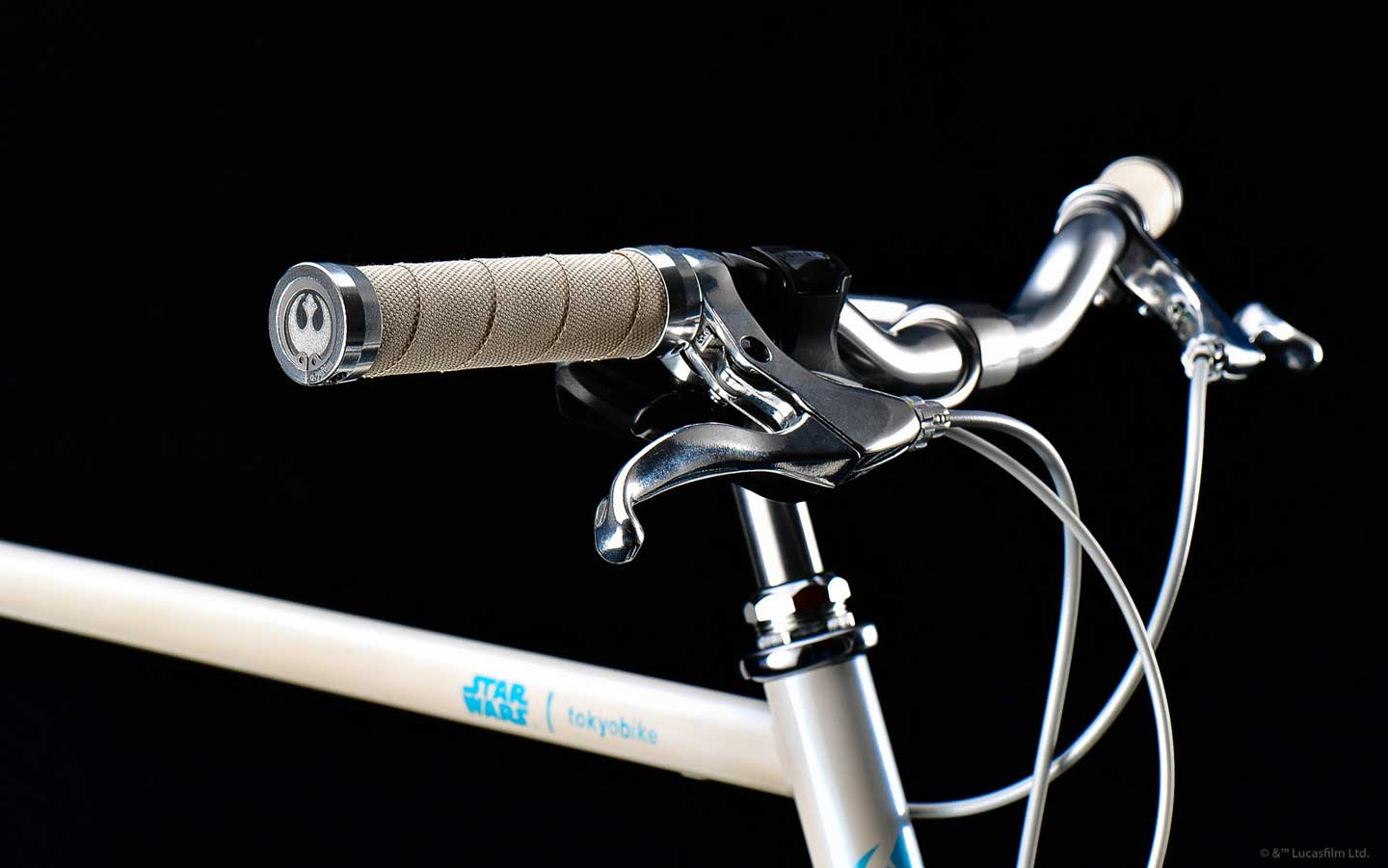 STAR WARS x tokyobike Rey - handlebar with resistant logo on grip
