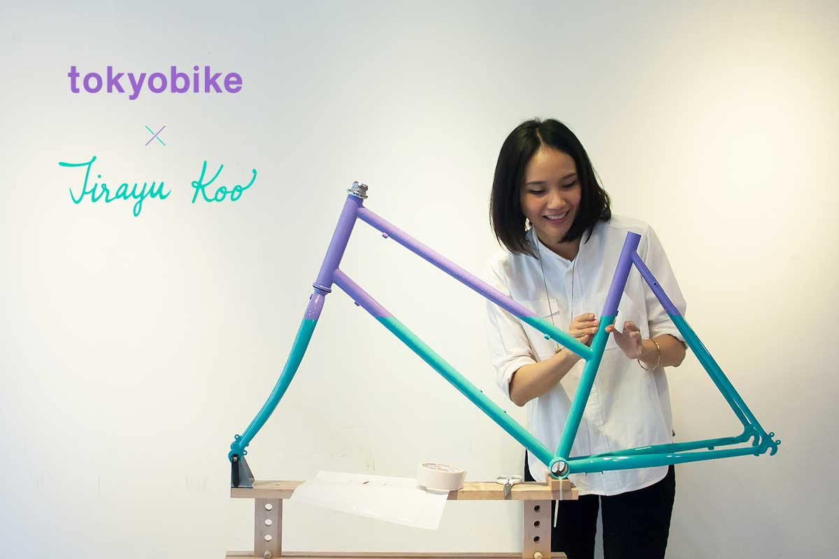 Collaboration project tokyobike x Jirayu Koo : Thai illustrator