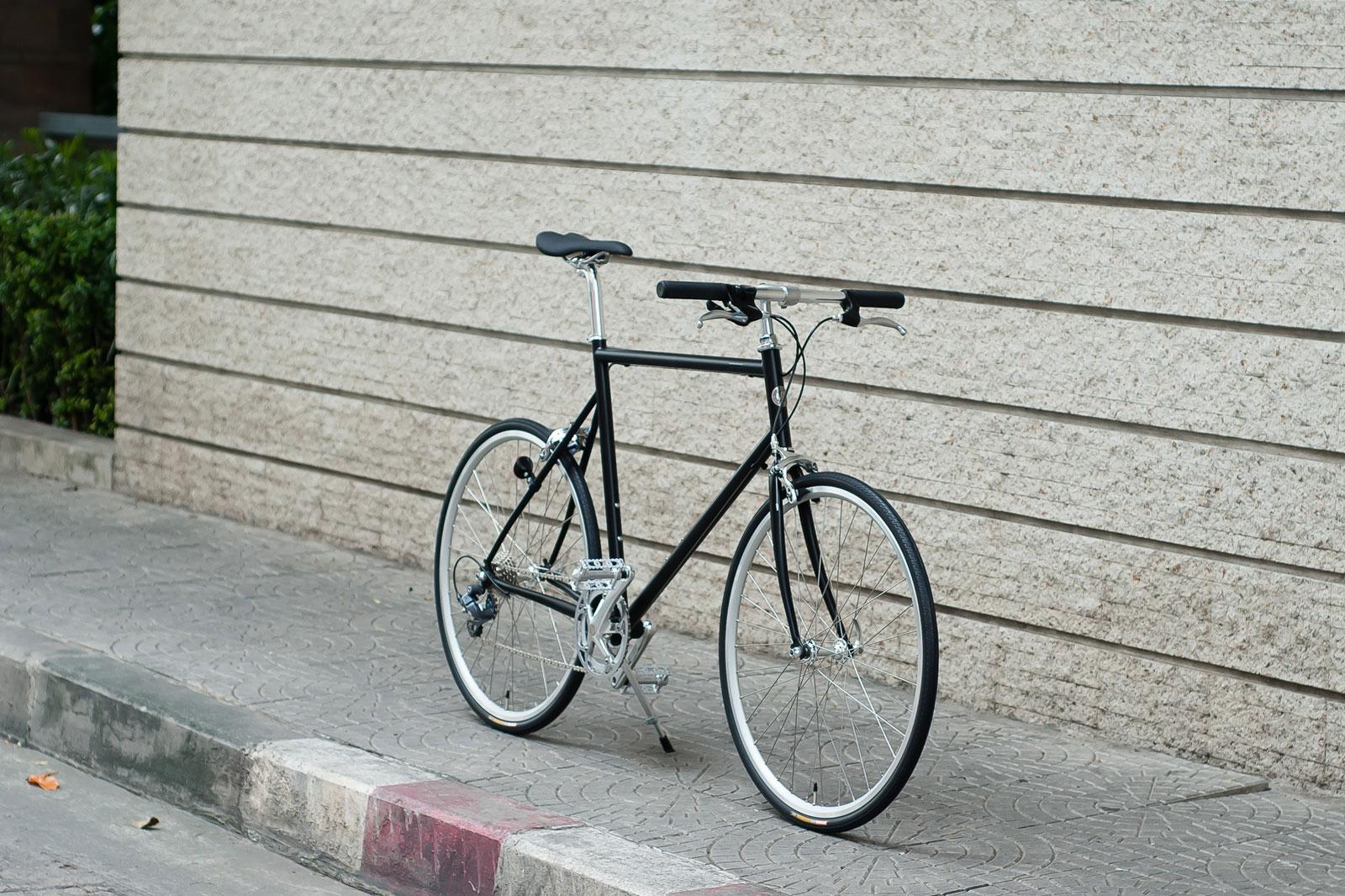 รถจักรยานรุ่น tokyobike cs sport matt black สีพิเศษ สีดำด้าน
