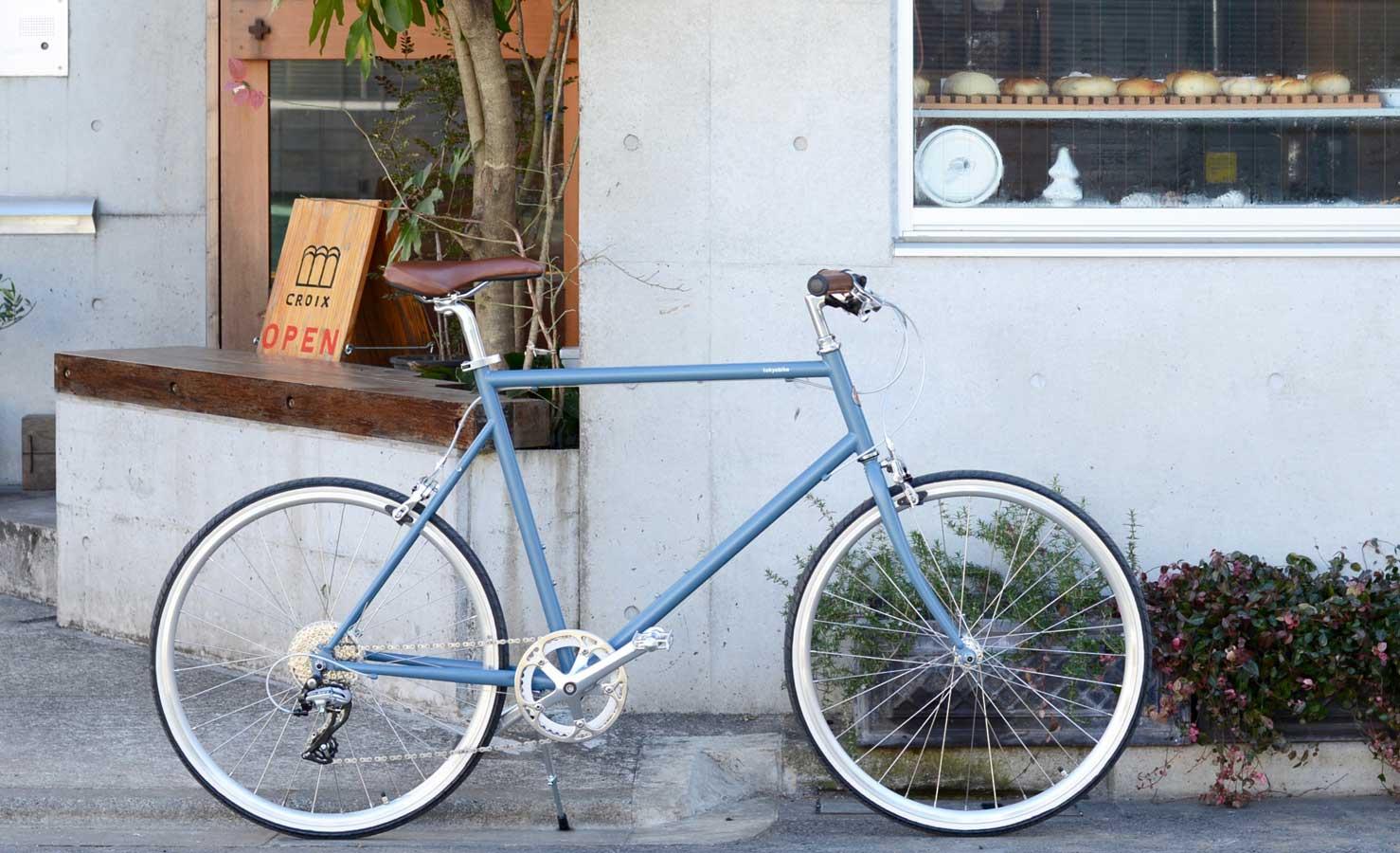 จักรยานรุ่น tokyobike 26 สี matt bluegrey