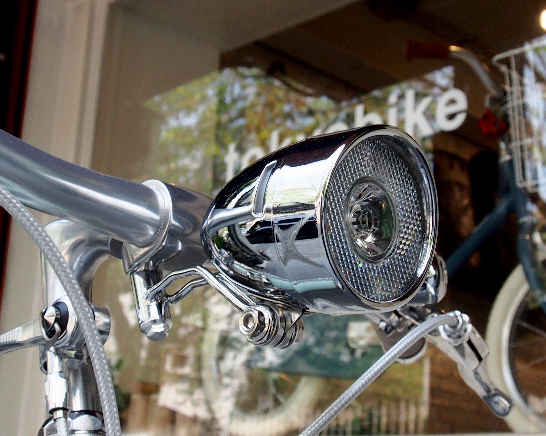 อุปกรณ์จักรยาน ทำขึ้นพิเศษ สำหรับยึดติดไฟหน้าแบบวินเทจ ที่ใต้ stem กลางแฮนด์