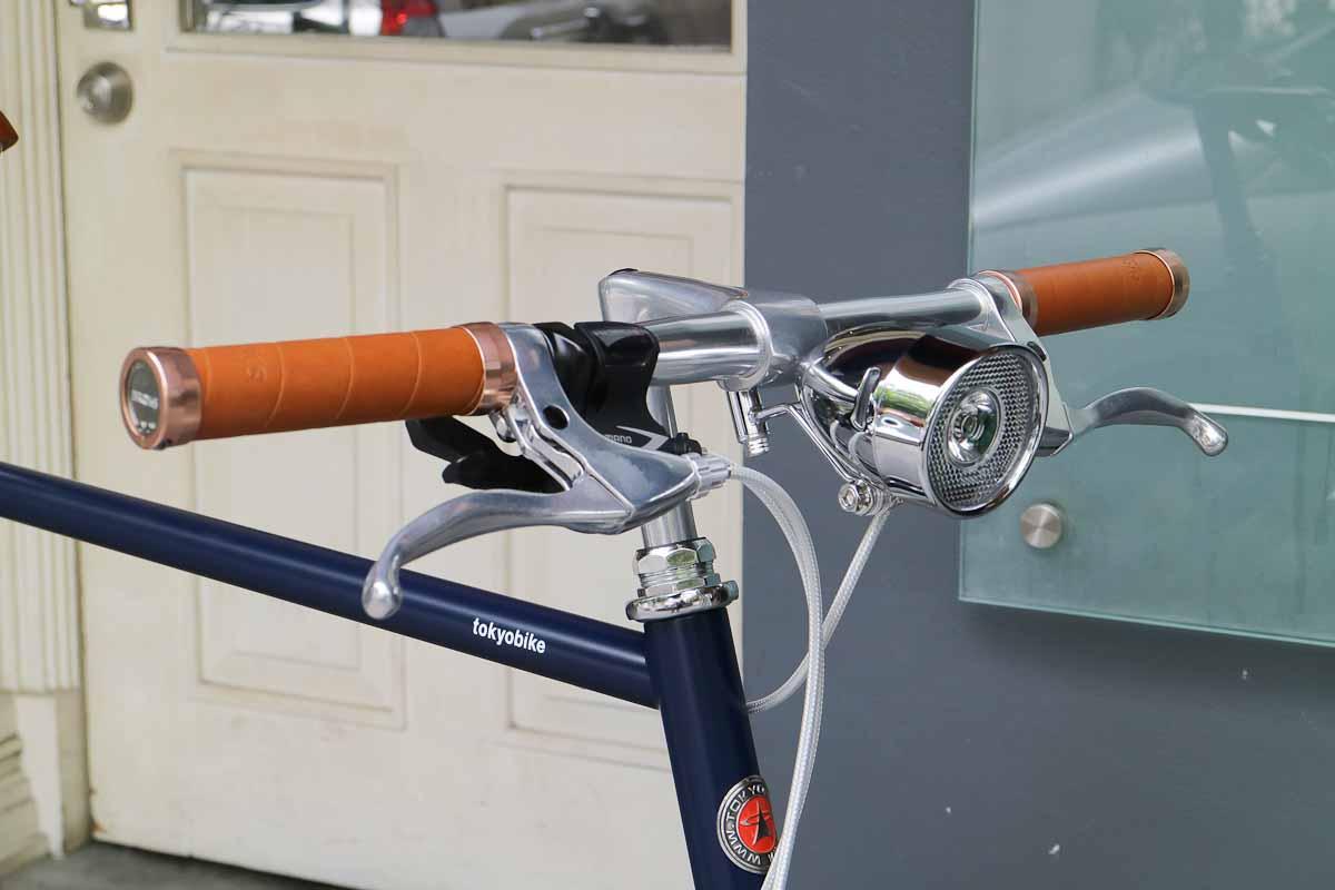 รถจักรยานแต่ง tokyobike plus #19 tokyo bike 26 ไฟวินเทจ และกริบ brooks สี honey รุ่นพิเศษ