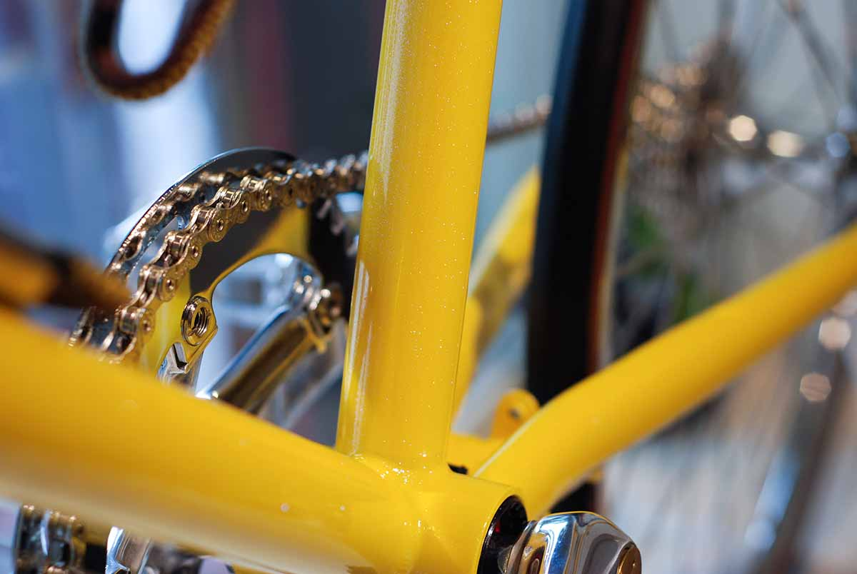 tokyobike plus#20 in special yellow with gritter