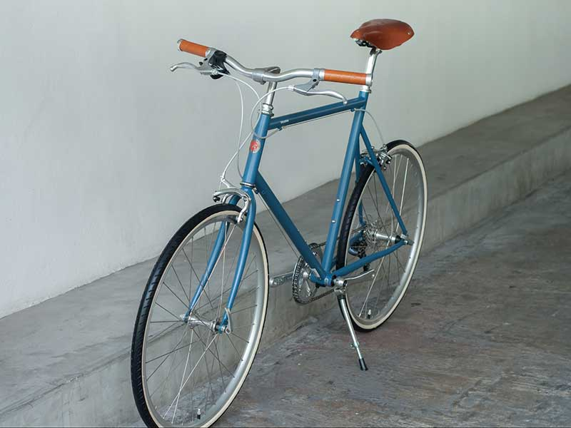 tokyobike plus cs26 blue gray with brooks set