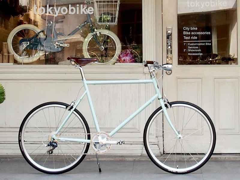 จักรยาน tokyobike plus matt mint อุปกรณ์ เกียร์วินเทจ ไฟหน้ายึดติดกึ่งกลาง