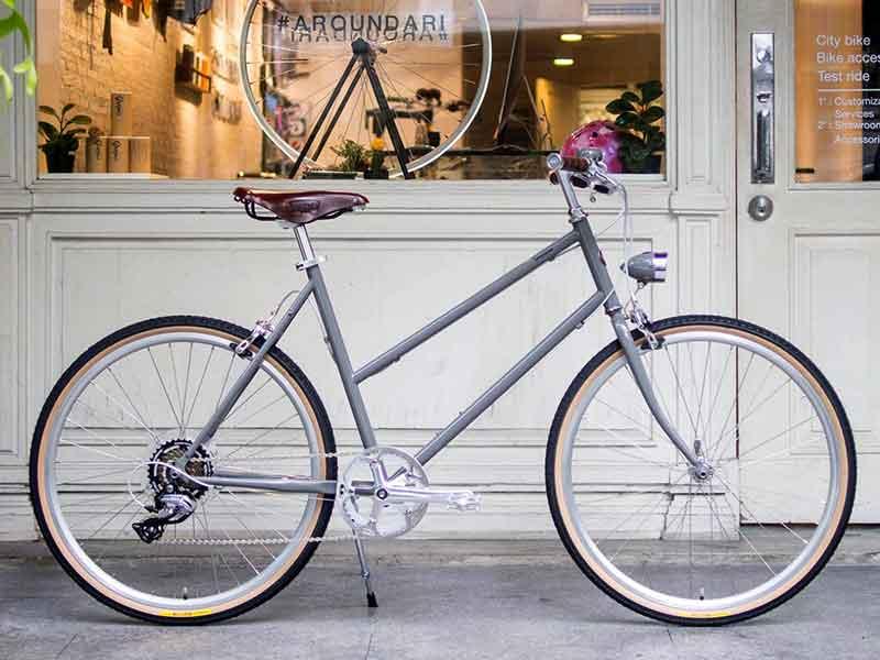 จักรยาน tokyobike plus bisou ทำสีพิเศษ gray lambo ยางหน้ากว่า ไฟจักรยาน วิทเทจ ทำสีเดียวกับรถ